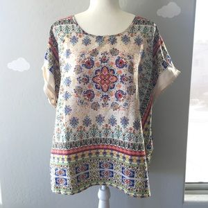Emberley XL bright patterned blouse